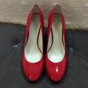 Red Patent Leather Heels by Nine West